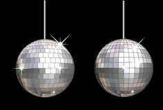 Vector disco ball set Stock Photos
