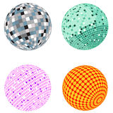 Vector disco ball set Royalty Free Stock Image