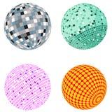 Vector disco ball set Royalty Free Stock Image