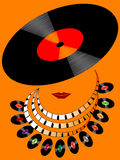 Vector disco girl Royalty Free Stock Images
