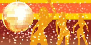 Vector disco party. Vector illustration DL format. Hi-detailed disco ball with abstract background. Include CDR-9 file with transparency options royalty free illustration