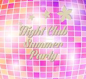 Vector disco party flyer Royalty Free Stock Photo