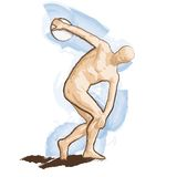 Vector Discobolus Royalty Free Stock Photo