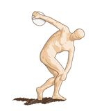 Vector Discobolus Royalty Free Stock Image