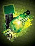 Vector discotech illustration Stock Image