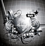 Vector discotech illustration Stock Photo
