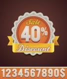 Vector discount badge Royalty Free Stock Photos