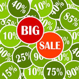 Vector discount big sale. Royalty Free Stock Image
