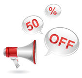 Vector discount icon Royalty Free Stock Photos