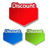 vector discount labels Stock Photo