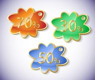 Vector discount labels set. Royalty Free Stock Image