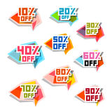 Vector Discount Labels Set Stock Photo