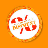Vector discount sale button Stock Photos