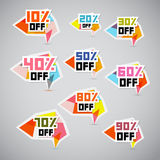 Vector Discount Stickers, Labels Stock Photography