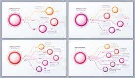 Vector 3 4 5 6 diseños infographic de las opciones, cartas de estructura, RRPP ilustración del vector
