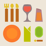 Vector dish set Royalty Free Stock Images