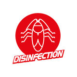 Vector disinfection firm logo  on white background. Royalty Free Stock Photography