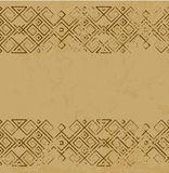 Vector distressed antique mexican pattern on marble slab royalty free illustration