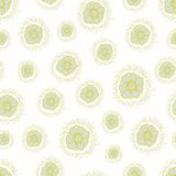 Vector ditsy pattern with small flowers on a white background. Stock Photo