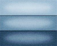 Vector diverse blauwe achtergronden van kleurenjeans, de realistische illustratie van de denimdoek, reeks horizontale banners met Royalty-vrije Stock Afbeeldingen