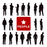 Vector of Diverse Business People's Silhouettes Royalty Free Stock Photos
