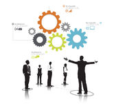 Vector of Diverse Business People Teamwork Concept Royalty Free Stock Photos