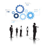 Vector of Diverse Business People Teamwork Concept Royalty Free Stock Image