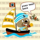 Vector divertido de la historieta del marinero Imagenes de archivo