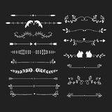Vector dividers calligraphic line element. Royalty Free Stock Image