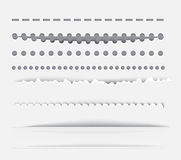 Vector dividers and vertical rules for design. Royalty Free Stock Photo
