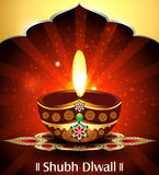 Vector diwali background with rangoli Royalty Free Stock Photos