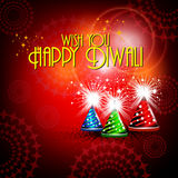 Vector diwali card design Royalty Free Stock Photos