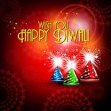 Vector diwali card design. Colorfull crackers in shiny glowing red color for diwali card design Royalty Free Stock Photos