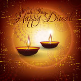 Vector diwali card design. With shiny grunge background Royalty Free Stock Photography