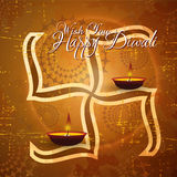 Vector diwali card design. With shiny grunge background Royalty Free Stock Photos