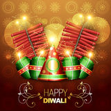 Vector diwali cracker Royalty Free Stock Image
