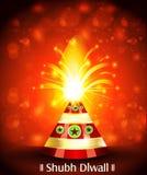 Vector Diwali Cracker Background Royalty Free Stock Photo