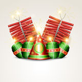 Vector diwali crackers Stock Photography