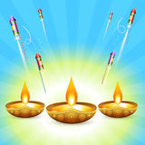 Vector diwali design Stock Images