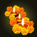 Vector diwali design. Diwali vector design with flowers