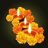 Vector diwali design Stock Photos