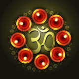 Vector diwali design Royalty Free Stock Images