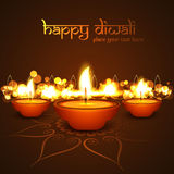 Vector Diwali diya celebration festival background Stock Images