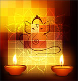 Vector Diwali diya celebration festival colorful backgro Royalty Free Stock Photos