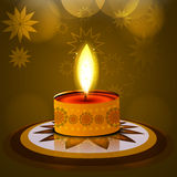 Vector Diwali lamp beautiful rangoli  Royalty Free Stock Photography
