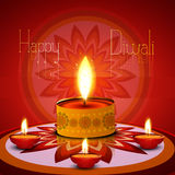 Vector Diwali lamp reflection background. Vector Diwali lamp reflection beautiful rangoli colorful art celebration background vector illustration