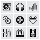 Vector DJ icon set Stock Photos