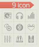 Vector DJ icon set Stock Images