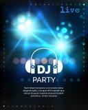 Vector dj party poster template Stock Photos