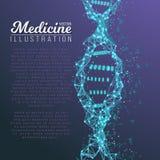 Vector DNA Spiral. Medical Molecule Structure. Illustration of Vector DNA Spiral. Abstract Medical Molecule Structure. Future Medicine Technology Human Genome Stock Image